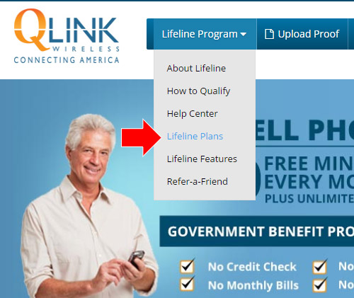 Lifeline plan - 500 minutes and unlimited text