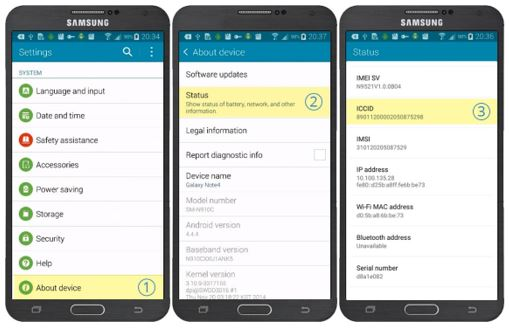 sim card in android